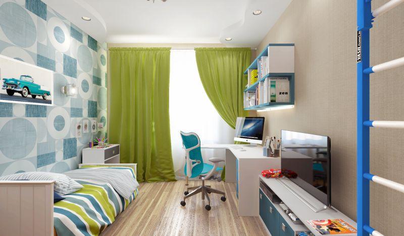 3D дизайн-проект детской комнаты
